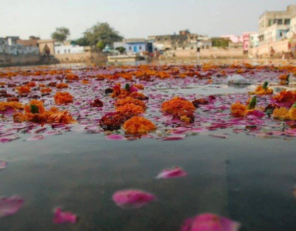Radha kunda, à tardinha
