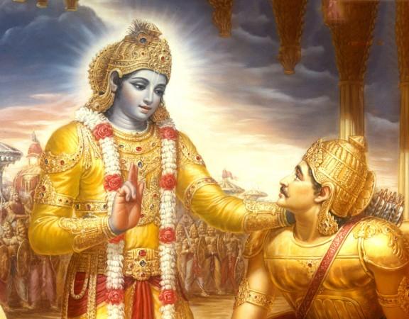 Krsna fala o Bhagavad-gita para Arjuna